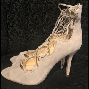 Vince Camuto lace up heels size 8.5